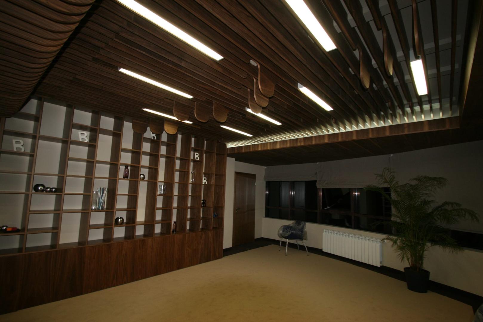 placari pereti corian iluminat led receptie corian termoformat furnir tavan furnir nuc tridimensional mobilier trafoare atipic depa009