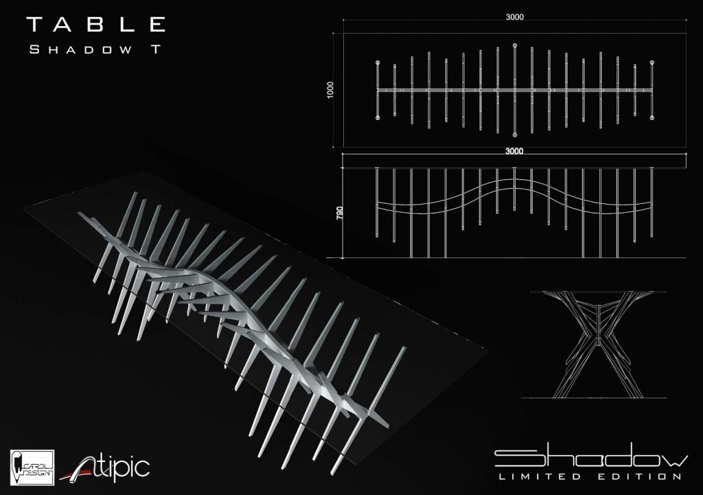 shadow mobilier editie limitata compozit Corian lemn masiv furnir birou masa dulap005