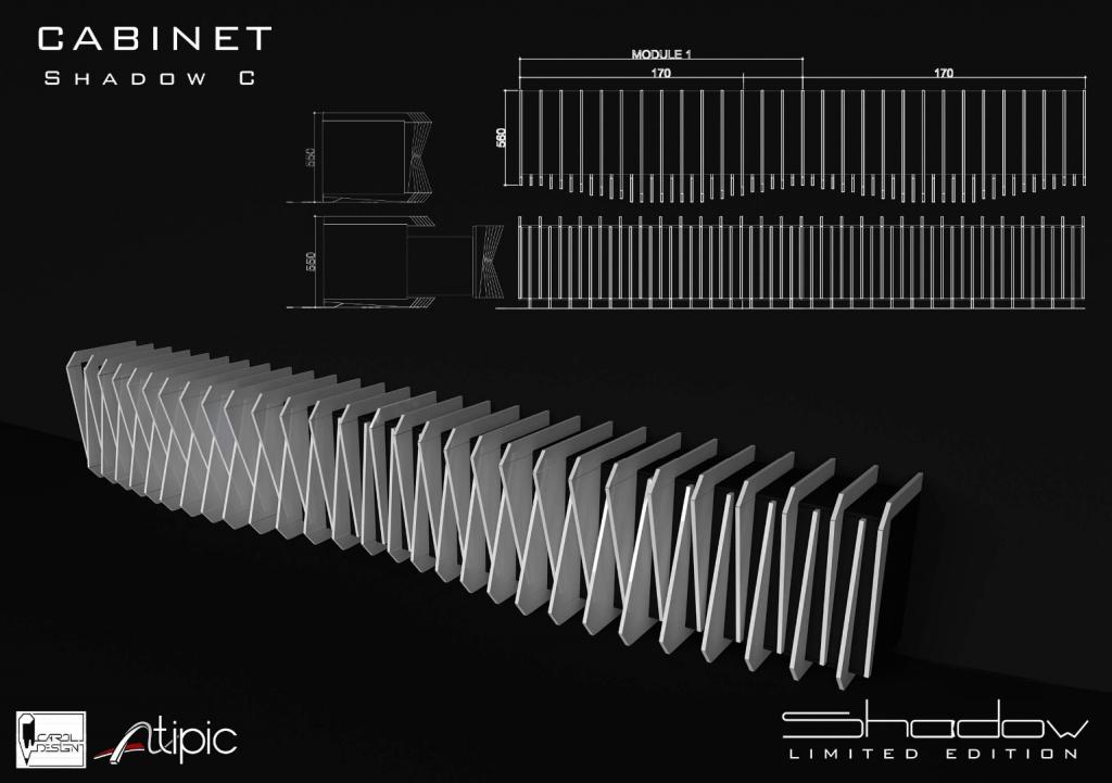 shadow mobilier editie limitata compozit Corian lemn masiv furnir birou masa dulap006