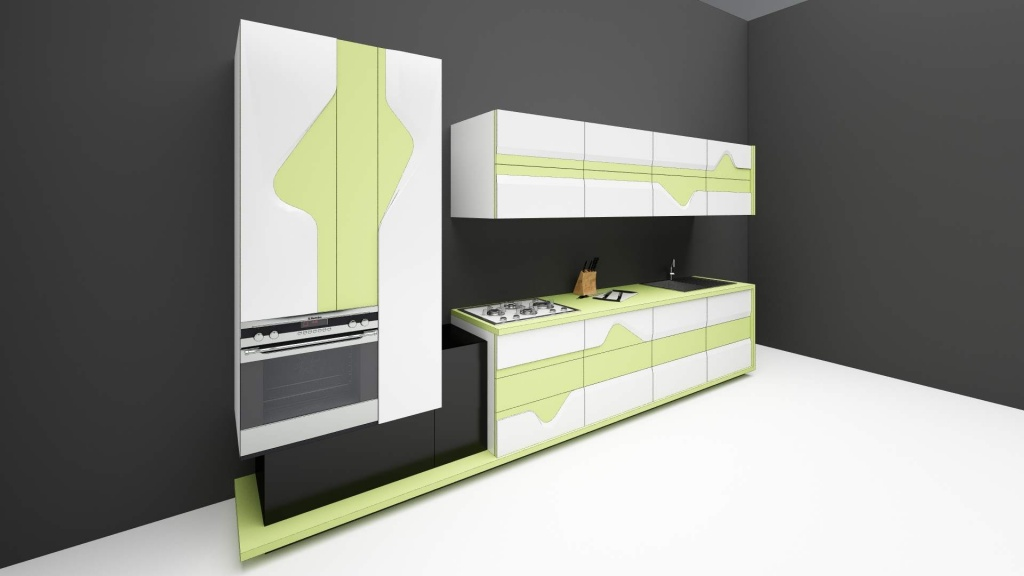 wave mobilier editie limitata fronturi tridimensionale lemn masiv print furnir001