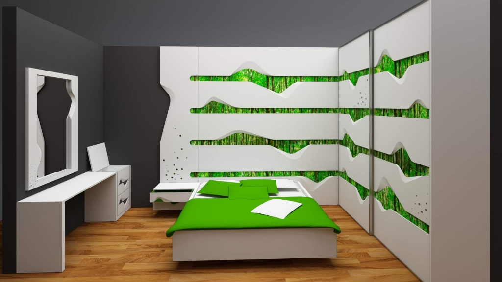 wave mobilier editie limitata fronturi tridimensionale lemn masiv print furnir007