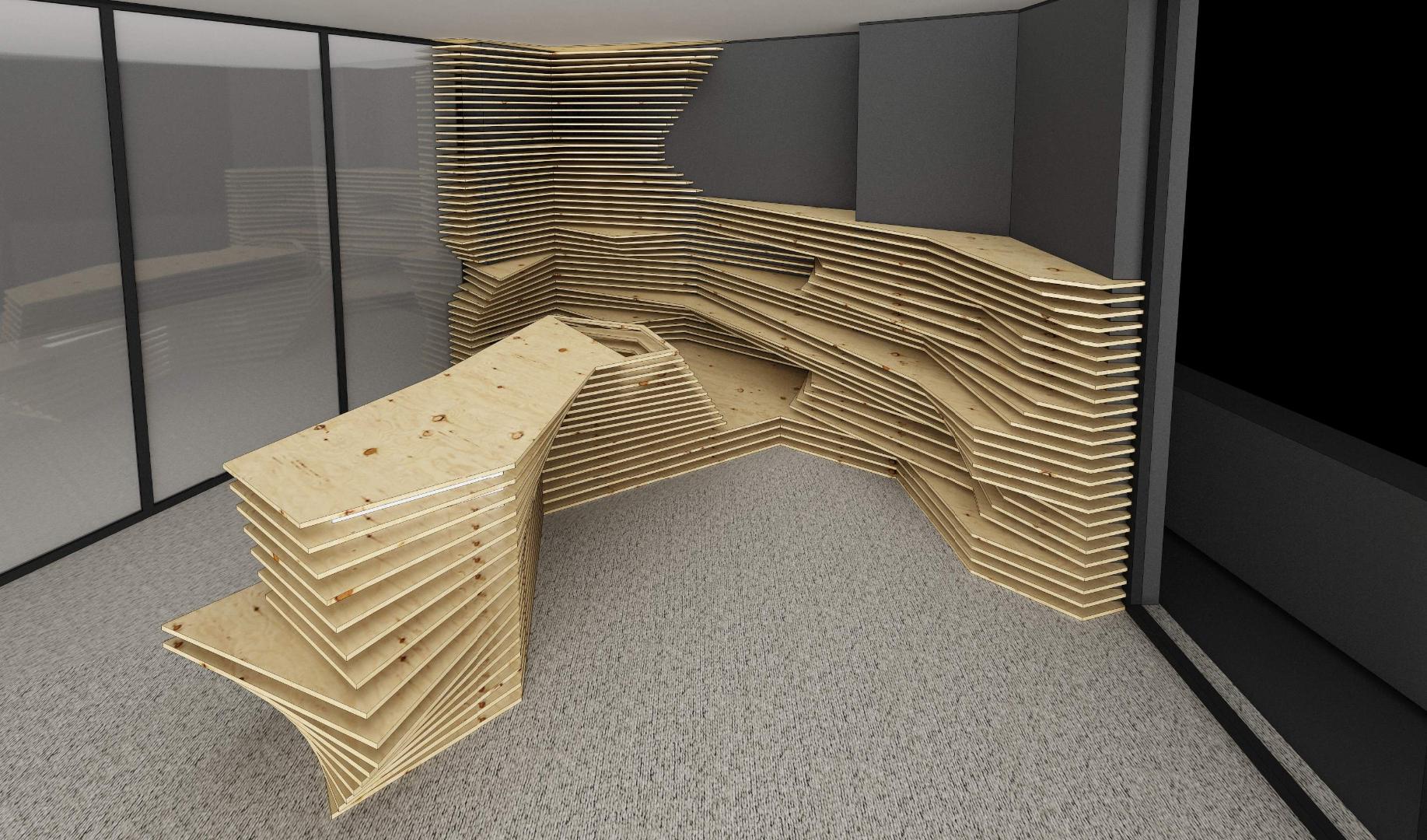 kinnarps receptie placari lemn corian expunere front desk018