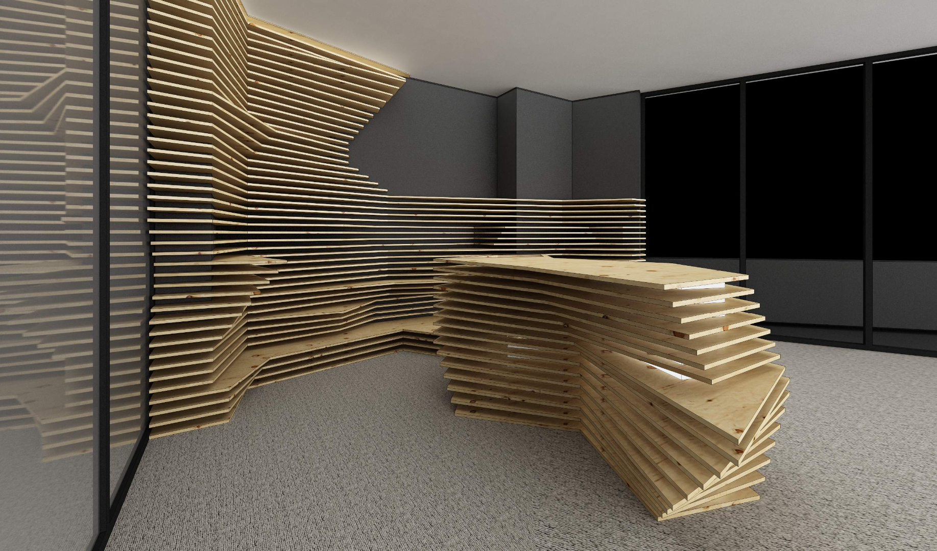 kinnarps receptie placari lemn corian expunere front desk020