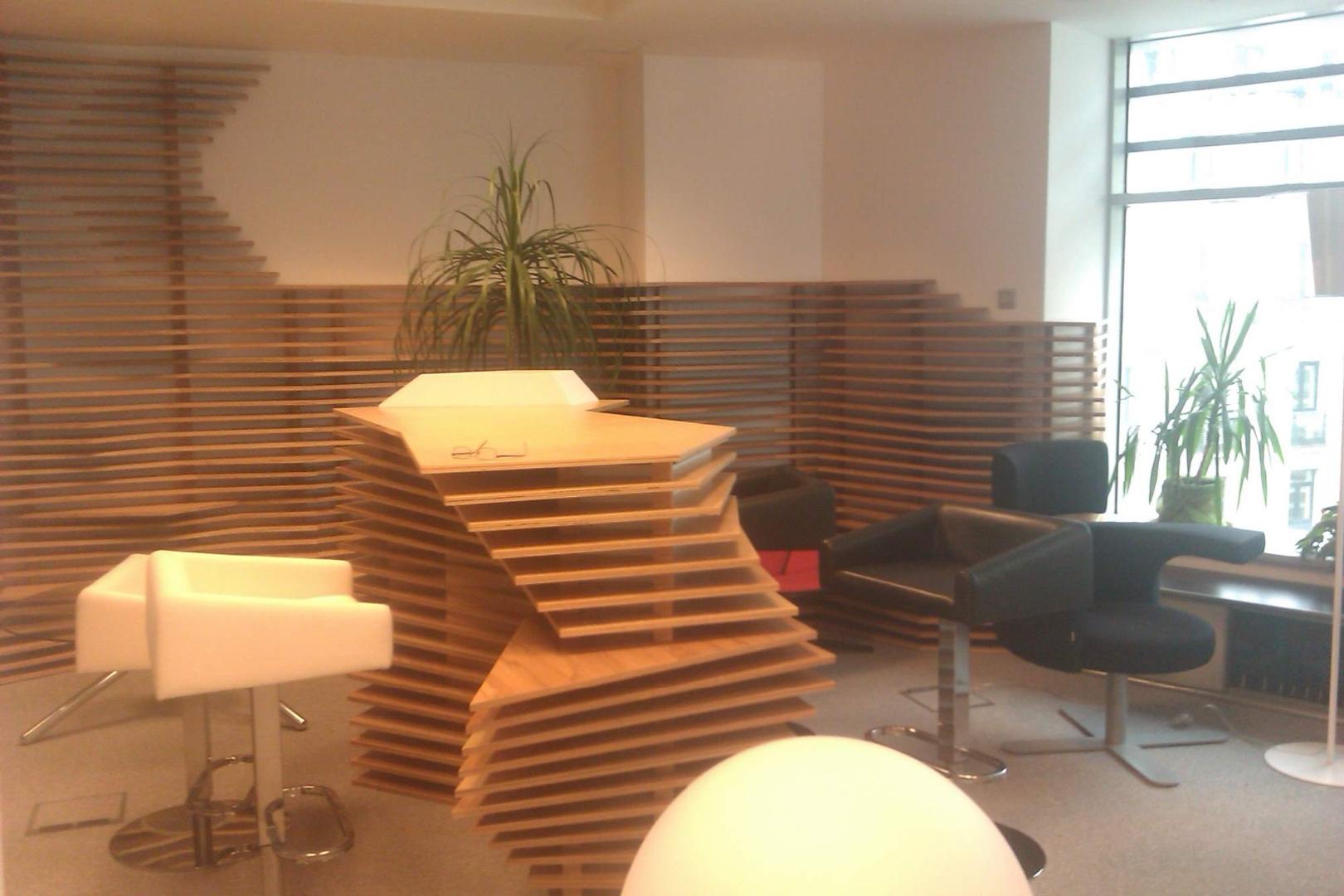 kinnarps receptie placari lemn corian  front desk002