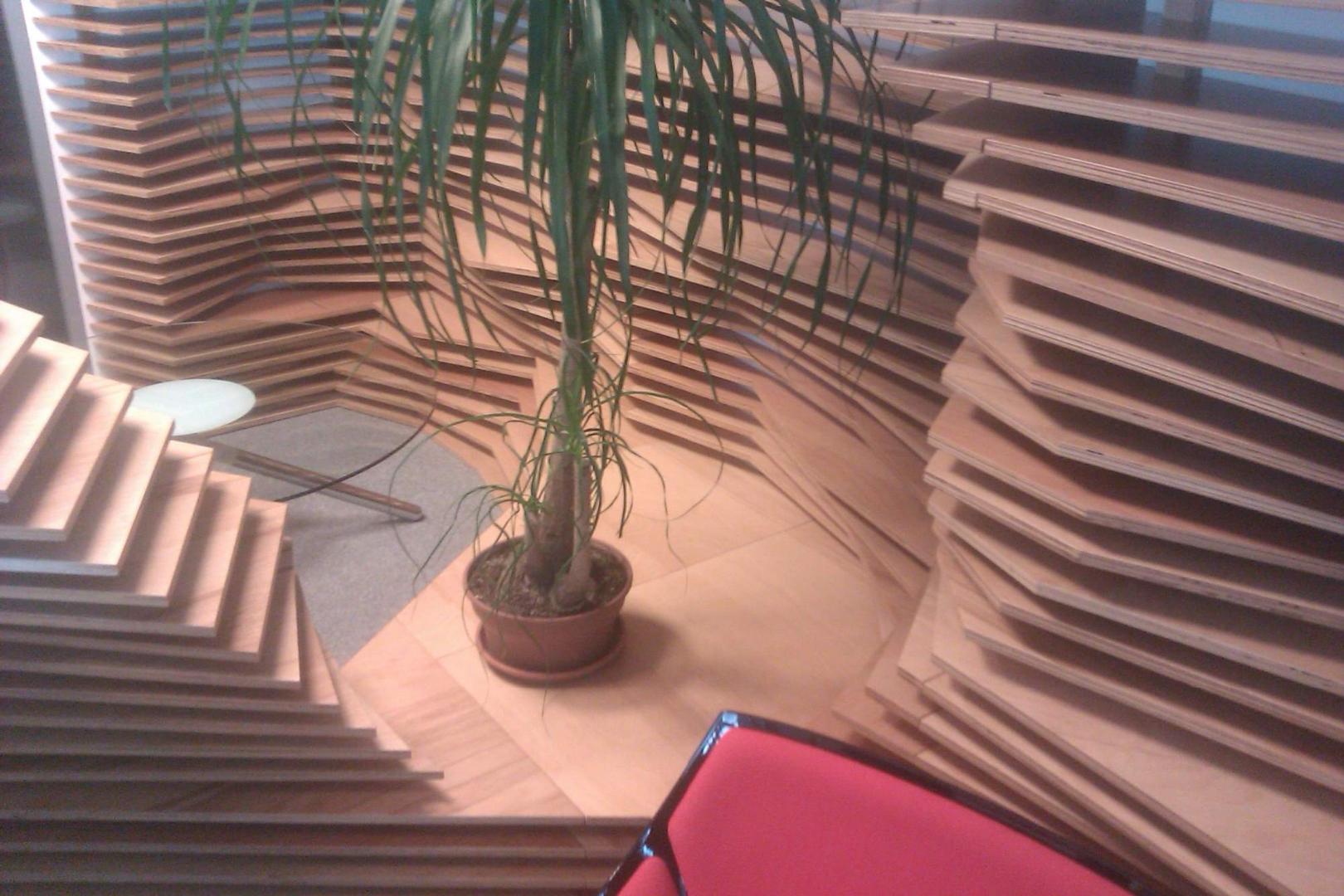 kinnarps receptie placari lemn corian  front desk007