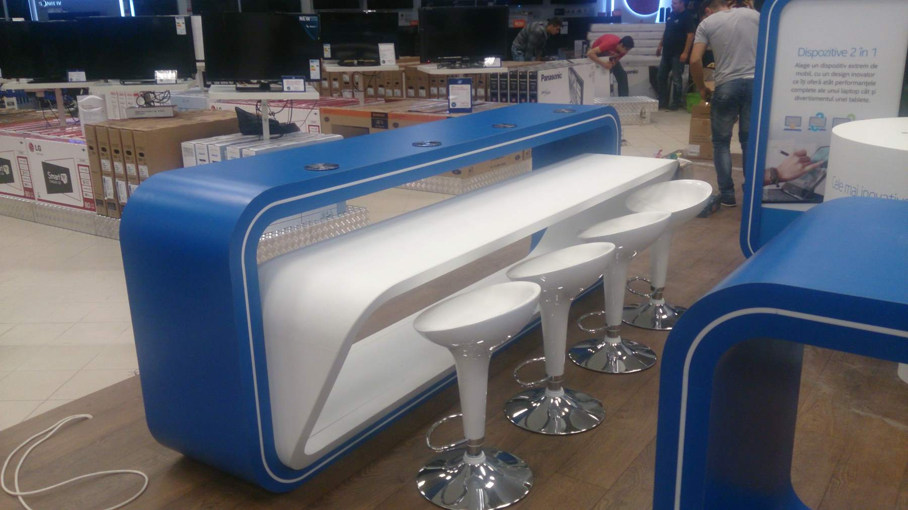 mobilier stand INTEL mall mdf hpl 001